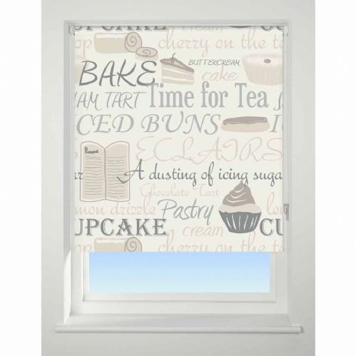 Universal Patterned Blackout Roller Blind - Bake Off Neutral